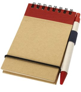 Zuse jotter with pen